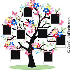 a fantasy tree with frames for your photos