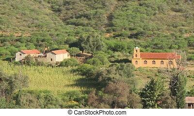 A farm settlement - A birds eye view of a farm with...