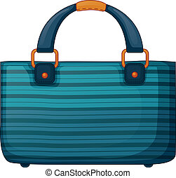 A fashionable handbag - lllustration of a fashionable...