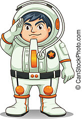A fat astronaut