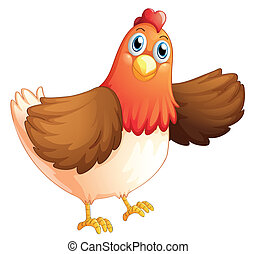 A fat hen - Illustration of a fat hen on a white background