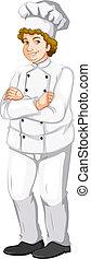 A fat male chef