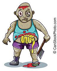 A fat zombie