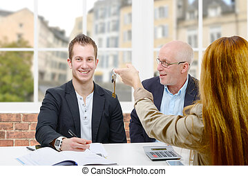father buy an apartment for his son