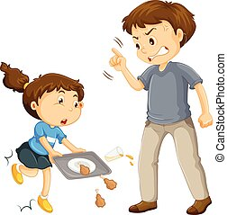 A Father Complain a Child illustration