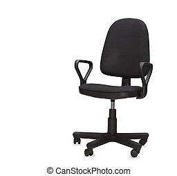 a, fekete, hivatal, chair., elszigetelt