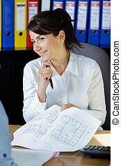 a female architect in office