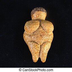 """Venus of Willendorf"" a Paleolithic goddess of fertility"