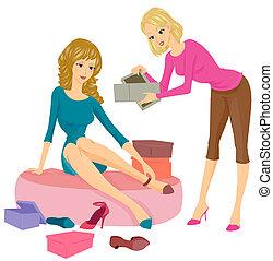 Sales Clerk In Clothes Shop Portrait High-Res Stock Photo