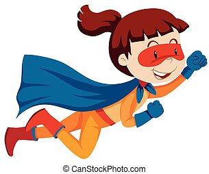 A female super hero character