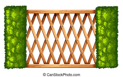 A fence with plants