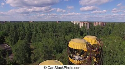 A Ferris wheel in Pripyat.Chernobyl