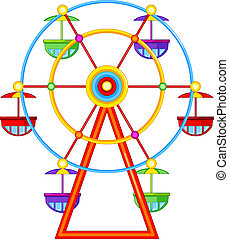 A ferris wheel ride - Illustration of a ferris wheel ride on...