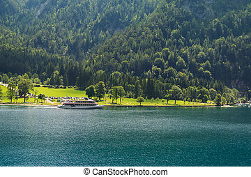 A ferry boat on the Achensee Lake
