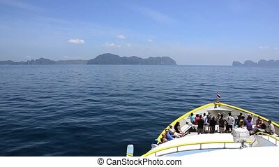 a ferry to phi phi islands - traveling by ferry boat