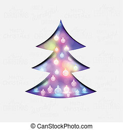 A festive christmas tree vector illustration