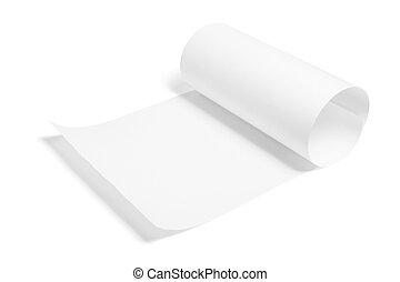 a, feuille papier