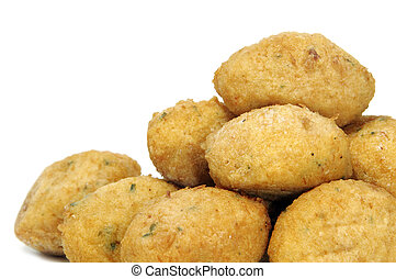 fritters - a few fritters isolated on a white background