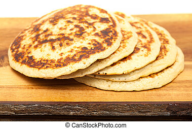 pancakes - a few pancakes on a wooden surface