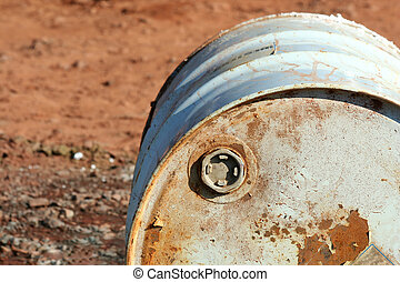 A Fifty five gallon drum with cap