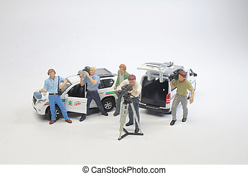 a  figure of broad cast team work