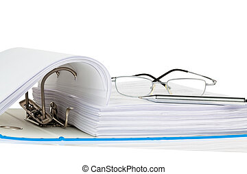 file folder with documents and documents - a file folder...