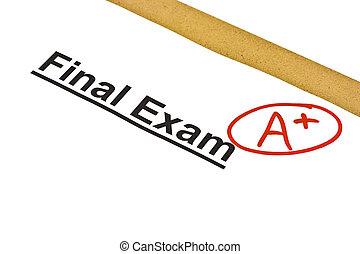 a+, final, marqué, examen