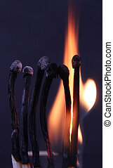 flame - A fire flame from matches