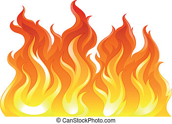 A fire - Illustration of a fire on a white background