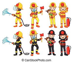 A fireman character set
