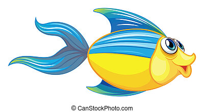 A fish - Illustration of a fish on a white background