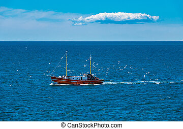 A fishing boat on the Baltic Sea