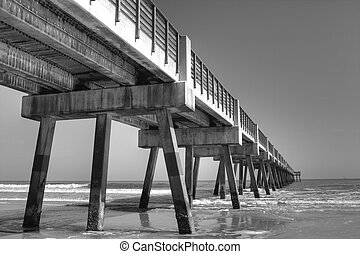 A Fishing Pier in Jacksonville Beach, Florida