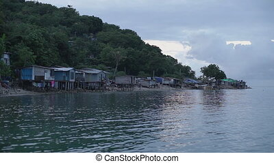 A fishing village in Papua New Guinea - Full frame shot of a...