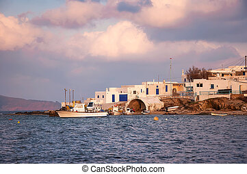 A fishing village near the Mediterranean Sea - Mykonos, Greece.
