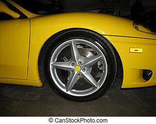 five star rim - A five star rim on a luxurious, yellow ...