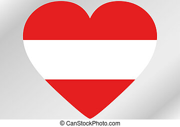 Flag Illustration of a heart with the flag of Austria