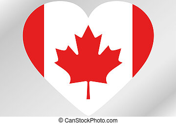 Flag Illustration of a heart with the flag of Canada