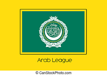 Flag Illustration of the country of Arab League