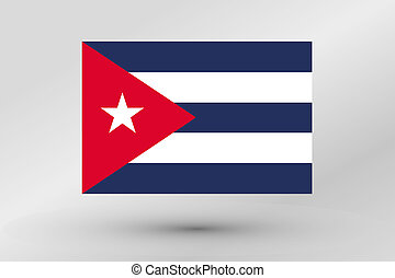 Flag Illustration of the country of Cuba