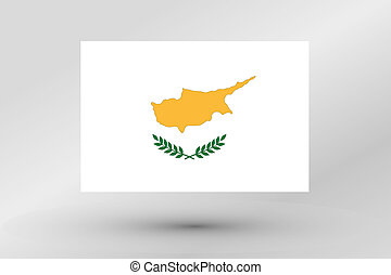 Flag Illustration of the country of Cyprus