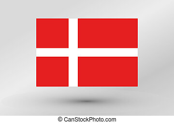 Flag Illustration of the country of Denmark