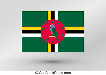 Flag Illustration of the country of Dominica