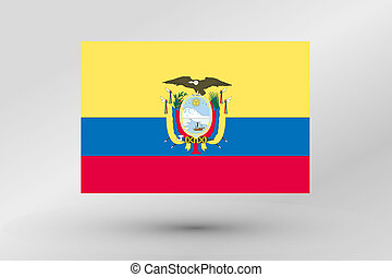 Flag Illustration of the country of Ecuador