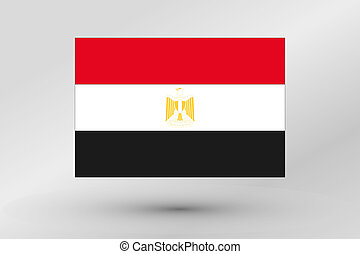 Flag Illustration of the country of Egypt