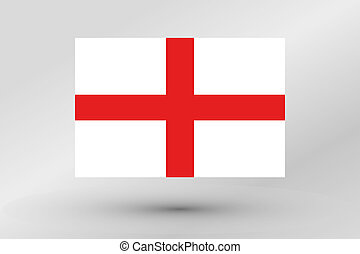 Flag Illustration of the country of England