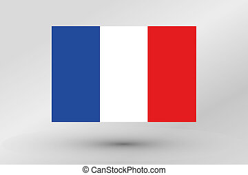 Flag Illustration of the country of France