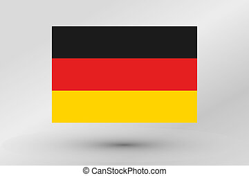 Flag Illustration of the country of Germany
