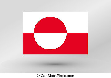 Flag Illustration of the country of Greenland