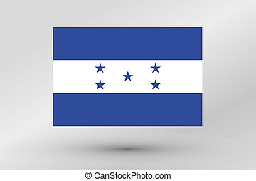 Flag Illustration of the country of Honduras